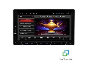 Christmas Sale!!! PC EGood Quad Core Android Double 2 DIN 4.4.4 Car Stereo Radio Audio Without CD Dvd Player GPS Navigation Capacitive Screen Logo Support wifi Internet 1080p steering Receiver