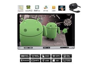 Android 4.4 2 din Capacitive Touch Screen Car GPS Navigation DVD CD Video Player 7'' Car Stereo AM/FM RDS Radio+Bluetooth+Camera+WiFi