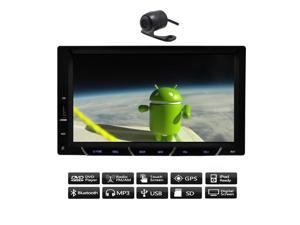 Android 4.4 7'' Capacitive TouchScreen Car no-DVD CD Video Player GPS Navi 2 din Car Stereo AM/FM RDS Radio+BT+WiFi+Camera