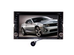 Christmas Sale!!! LCD Pupug Camera Double 2 Automotive Din 6.2 Inch In Dash Stereo AUX Car DVD Player Bluetooth Auto Radio Touch Screen iPod SD USB In Dash In-Dash GPS Navigation Video Audio S