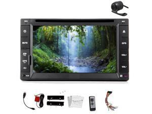 Christmas Sale!!! 2DIN Back Camera Double 2 Double 2 DIN Din In Dash 6.2 inch car In-Dash DVD CD Player LCD Touch screen vw Car Stereo Radio GPS Navigation vw auto Direct USB Connection for iP