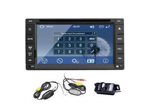 Christmas Sale!!! MP3 6.2 inch GPS navigation Audio Car Radio Stereo DVD Video Player HD New WinCE 8 Double 2 Din Car Auto with NAVI Bluetooth FM Touch Screen AM MP3 4 USB SD Built Double 2 DI