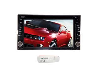 """Christmas Sale!!! AUX GPS Navi on Double Video 2 Din In Dash 6.2"""" Car Head Unit Stereo DVD Player Radio BT Ipod Subwoofer HD LCD USB SD Car Auto GPS stereo video 3G Internet feature Stereo Dec"""