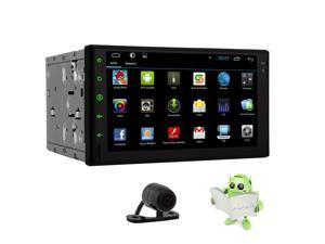 New Universal Pupug 7 Inch Android 4.4 Car NON-DVD Player Car Audio 2 Din Car Stereo GPS Car Tablet Input Radio FM AM RDS Bluetooth Car PC SD USB No-TV Capacitive Multi Touch Screen with free cam
