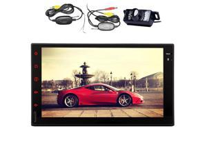 Wireless Rear Camera Android 4.4 Car GPS Player Capacitive multi-touch Screen Car GPS Navigation  None DVD Function  Car Stereo Audio Player Support FM/AM Radio/WiFi/Steering Wheel Control