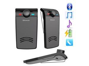 Universal Bluetooth In-Car Speakerphone  Bluetooth hands-free telephone with built-in Microphone Music Playing