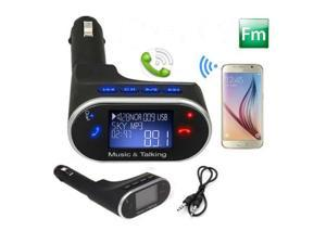 LCD Wireless Bluetooth Fm Transmitter Modulator Radio Adapter for Hands-Free Calling & Stereo Sound Music,Bluetooth Car Kit with USB Charging Port for Smartphones,Tablets,MP3 Players