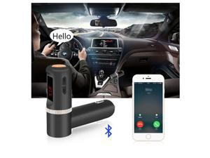 Bluetooth FM Transmitter, FM Wireless Bluetooth FM Transmitter Radio Adapter, Music Control, Handsfree Calling with Dual USB Car Charger for iPhones, iPods, Samsung Galaxys and Any Bluetooth