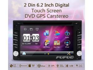 Auto 2din Car Electronic Car DVD Player GPS Navigation Radio Autoradio Tuner PC Video Music Player Monitors for Universal In Dash RDS/AM/FM Bluetooth Car Stereo 2 din Free Map Card Free Came