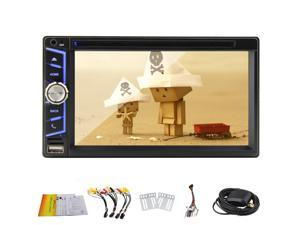 Pupug Quad Core Android 4.4 6.5 inch 2 Din Car DVD Player GPS Navigation Bluetooth Wifi Mirror Link Bluetooth Muti-touch Screen Car Stereo