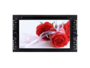 Double Din Car Stereo Head Unit 6.2 Inch TFT Touch Screen Bluetooth Steering Wheel Control Analog TV USB/SD IPod RDS AM FM Radio iPod Media