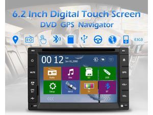 Universal Car Electronics auto 2din car dvd player GPS am/fm car Radio electronics Tuner PC Stereo Video Monitors Blutooth Free camera+Free 3g dongle