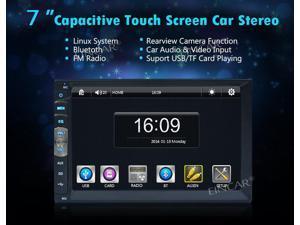 Eincar 7 inch Double 2 Din Car Stereo Player Touch Screen Bluetooth Headunits Car Radio Audio USB/SD autoradio Stereo Video In Dash stereo Player NO GPS