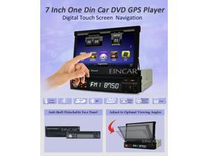 Windows CE 6.0 single Din Stereo in Dash Car DVD Player GPS Navigation Universal In-Dash  7 inch Motorized Flip-Up Car GPS Navigation Car Dvd Player DVD CD Video Video Player Car Stereo FM/AM Touch