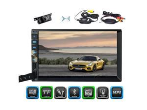 Double 2din Car Stereo with Autoradio Bluetooth 7'' Car MP5 Player support AV Radio Stereo Wireless Camera HD FM Radio Receiver USB Input AUX Capacitive Touch Screen Car In Dash Audio +Remote contro