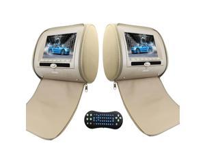 """Car Pillow Monitors 7 """" Wide LCD Screen Headrest with Region Free DVD Audio Video player  Support the newest 32 Bit Game Remote Control IR/FM Transmitter USB/MS/MMC/SD Card Input AV/RCA Output"""