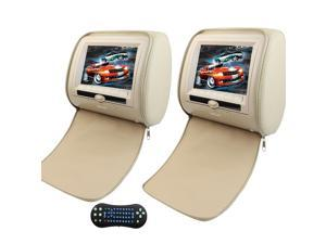 """7 """" LCD Wide Screen  Car Pillow Monitors with Region Free DVD player Audio Video Support the newest 32 Bit Game Remote Control IR/FM Transmitter USB/MS/MMC/SD Card Input"""
