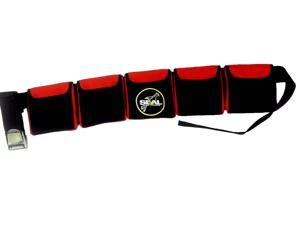 Scuba Diving Pocket weight Belt (5 pocket Red)