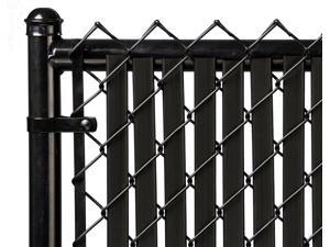 Chain Link Black Double Wall Tube™ Privacy Slat For 4ft High Fence Bottom Lock