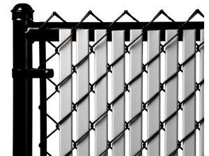 Chain Link Gray Double Wall (Tube) Privacy Slat For 4ft High Fence Bottom Lock