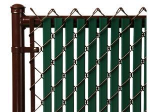 Chain Link Green Double Wall (Tube) Privacy Slat For 5ft High Fence Bottom Lock