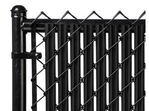 Chain Link Black Single Wall Ridged Privacy Slat For 6ft High Fence Bottom Lock