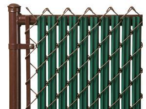 Chain Link Green Single Wall Ridged Privacy Slat For 8ft High Fence Bottom Lock