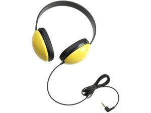 Califone 2800-YL Listening First Stereo Headphones, Yellow&#59; Specifically sized for young students&#59; Adjustable headband comfortable for extended wear&#59; Ideal for beginning computer classes and story-tim