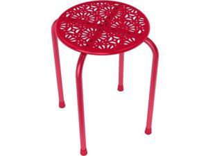 Dar Daisy Stackable Metal Stool, 2 Pack - Red