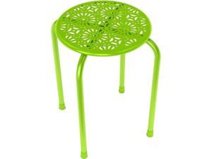 Dar Daisy Stackable Metal Stool, 2 Pack - Lime Green