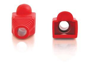 C2G RJ45 Snagless Boot Cover (6.0mm OD) - Red - 50pk