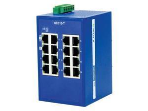 B+B Monitored Ethernet Switch 16 port, SNMP, Modbus/TCP