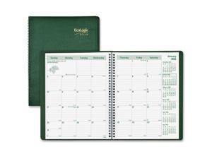 "Monthly Planner,14-Months,Dec-Jan, 2PPM,11""x8-1/2"",Green"