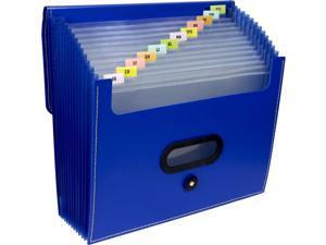 """13-Pocket Ladder Expanding File 10"""" Exp Letter 13 x 12 1/4 Blue"""