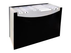 "21-Pocket Stand-Up Design Expanding File 12"" Exp Legal 15 x 9 1/4 Black"