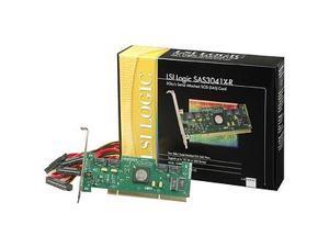 LSI LSI00166 (SAS3041X-R SGL) 64-bit 133MHz PCI-X Low Profile SATA / SAS RAID Controller Card