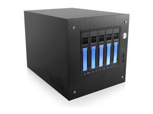 "iStarUSA S-35-B5BL Compact Stylish 5x 3.5"" Hotswap mini-ITX Tower"