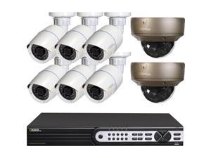Q-See - QT848-8R3-2 - Q-see Video Surveillance System - 8 x Network Video Recorder, Camera - H.264 Formats - 2 TB Hard