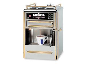 One-Cup Espresso Beverage System Chrome/Gold Stainless Steel