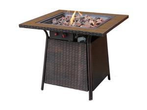 UniFlame Propane Tile Gas Fire Pit Table