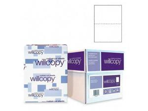 """Custom Cut Sheets, Microperf at 5-1/2"""", 5 RM/CT, White, Sold as 1 Carton"""