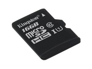 Kingston 16GB microSDHC Flash Card Single Pack w/o Adapter Model SDC10G2/16GBSP