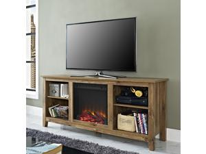 Barnwood Fireplace TV stand