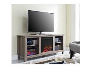 Driftwood Fireplace TV stand
