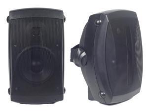 """Audio Experience AES0105B Weatherproof Multi Patio Speakers (Pair, Black) 80W, 5.25"""" 2-Way Woofer Speaker and 1"""" balance dome tweeter"""