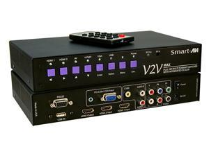Smart AVI - V2V-MAX-S - SmartAVI Full HD Multi Format, 6-Port Switcher with Integrated Scaler - 1920 x 1080 - Full HD -