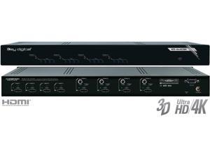 Key Digital KD-4x4CSK 4x4 I/O HD/4K HDMI Matrix Switcher w Audio De-embedders