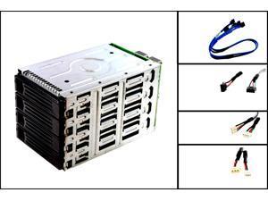 Intel SC5400 AXX4DRV3G SAS/SATA Hard Drive Cage W/ 4 Drive Bay & Backplane Board