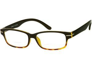 Readers.com The Harvey Bifocal +1.25 Black with Yellow Tortoise Fade Reading Glasses