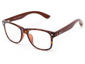 Readers.com The Fitzgerald Recycled Wood Bifocal +2.00 Tortoise/Brown Reading Glasses